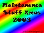 2003 Maintenance Staff Xmas
