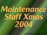 2004 Maintenance Staff Xmas