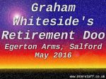2016 Graham Whiteside's retirement