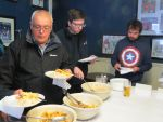 Tony Yates spots more chips<br>Liam Sutcliffe finds a plate and Martin Connor still looks pensive